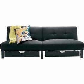 Marvelous Room Essentials Black Storage Futon    Target $160
