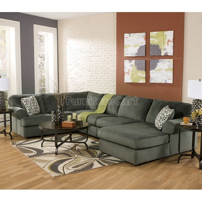 Jessa place pewter sectional living room set furniture lighting decor pinterest for How much furniture to put in a living room