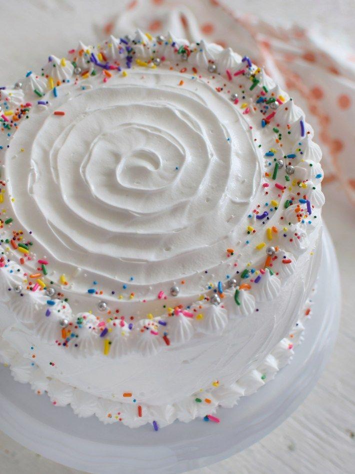 Torta De Vainilla Decorada Para Cumpleaños Torta De Vainilla Pastel De Vainilla Receta De Pastel De Vainilla