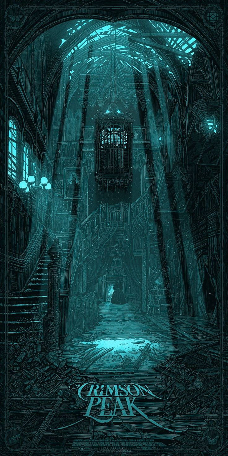 Crimson Peak | Legendary Films - Out Oct 16. Dark gothic horror movie - When her heart is stolen by a seductive stranger, a young woman is swept away to a house atop a mountain of blood-red clay: a place filled with secrets that will haunt her forever.