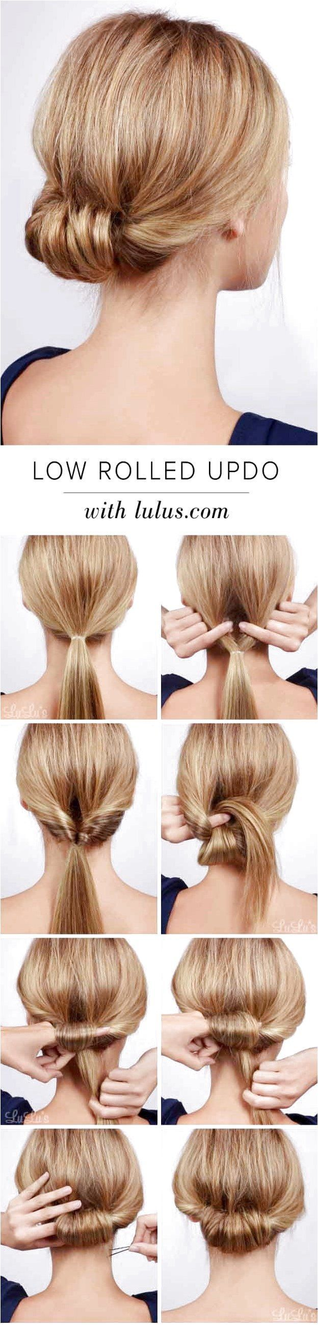 Best Hairstyles For Brides - Low Rolled Updo Hair Tutorial-Amazing Hairstyles ... - Braided Hairstyle - Wedding Hairstyles - #Best Brides #Hairstyle ...