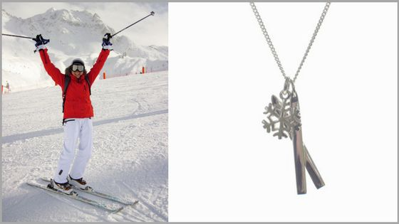 Wear the #Ski and #Snowflake necklace to show off your #passion for #skiing this #November! #whistler