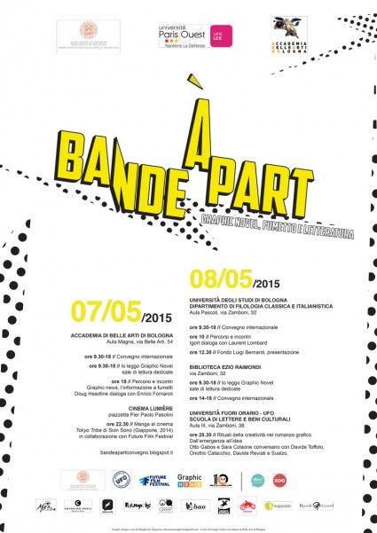 Bande à part, il primo convegno su graphic novel, fumetto e letteratura a #Bologna il 7 e l'8 maggio 2015