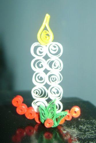 Imagen vela de navidad con tecnica de filigrana en papel - grupos.emagister.com…