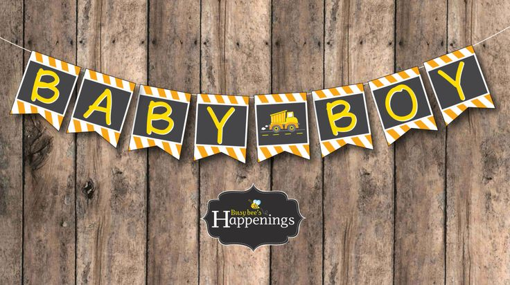Construction Baby Shower, Construction Baby Shower Banner, Baby Shower Banner by Busy bee's Happenings Digital File INSTANT DOWNLOAD by BusyBeesHappenings on Etsy https://www.etsy.com/listing/233407226/construction-baby-shower-construction