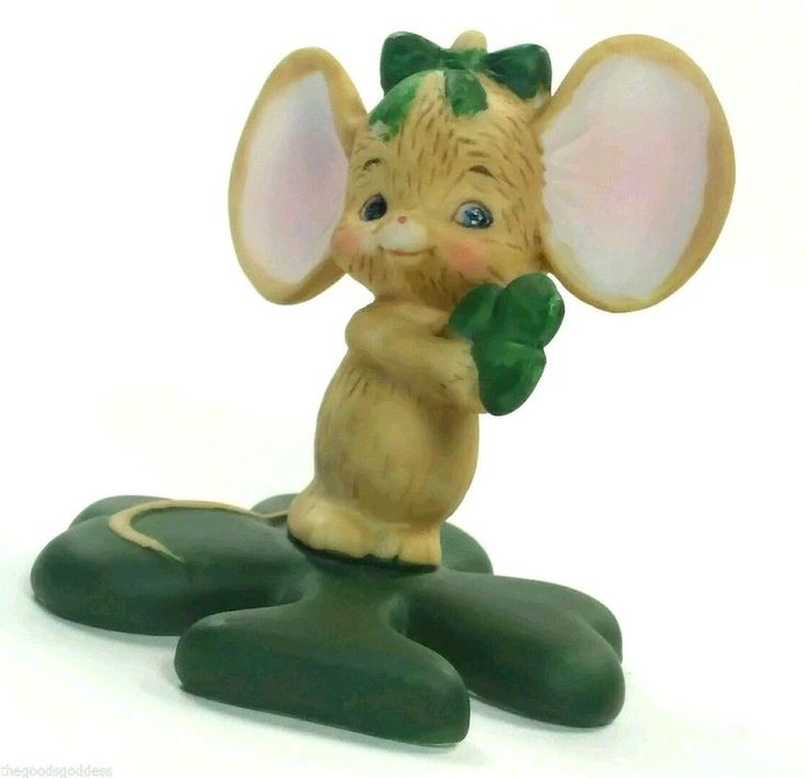 She's a Wee Little Thing, But Oh So Cute! Lefton St. Patricks Day Irish Clover…