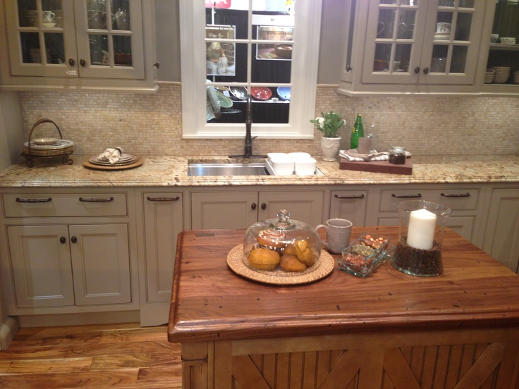 Perfect Heritage Wood Island From @Artisan Stone Collection Countertops At The  @Wellborn Cabinet Inc.