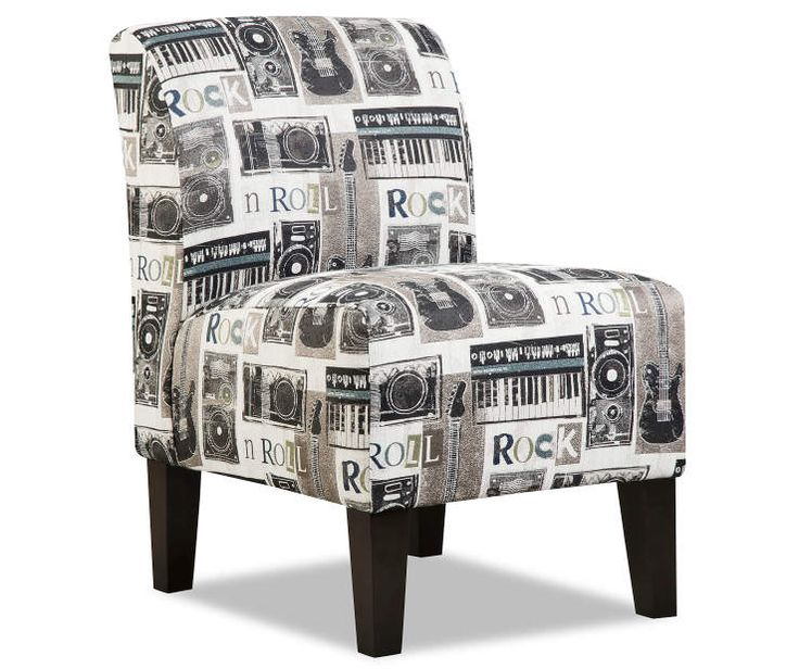 Simmons Rock N Roll Armless Accent Chair Armless Accent