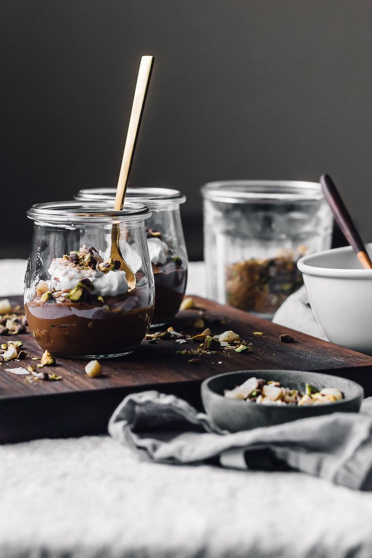... dessert dukkah + raw chocolate pudding & whipped coconut cream ...