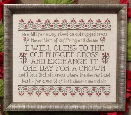 Good My Big Toe Designs The Old Rugged Cross   Cross Stitch Pattern. I Will Cling