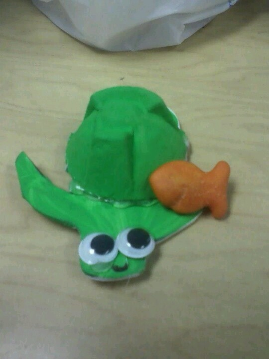 Craft, turtle, egg carton