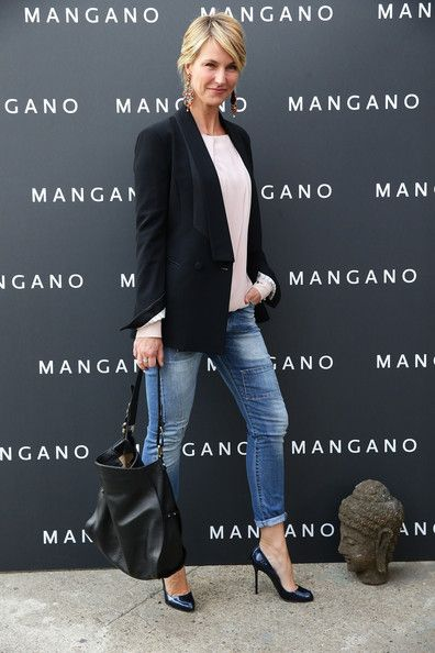 Ellen Hidding attends the Mangano fashion show on May 26, 2014 in Milan, Italy.