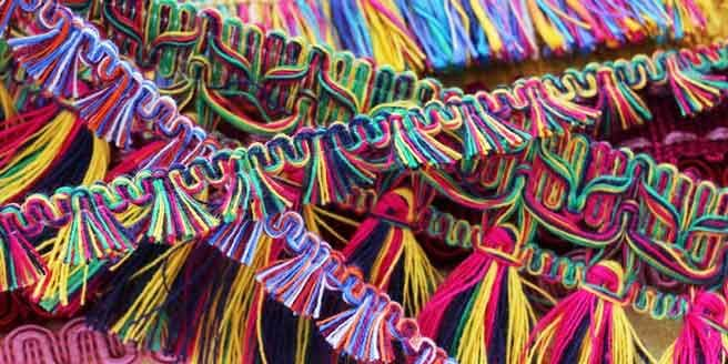 colourful fringes from Bedecked Haberdashery