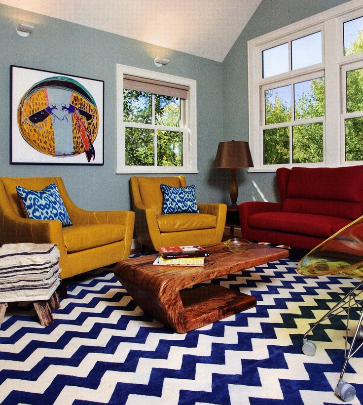 Vibrant Family Room Grace Home Design Eclectic Living Room Grace Home Design Inc