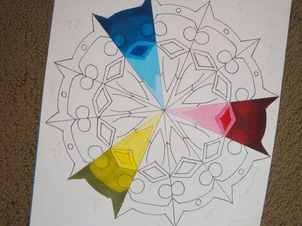 Color Wheel Project Mandala Insprired Color Wheel Elements Of Art
