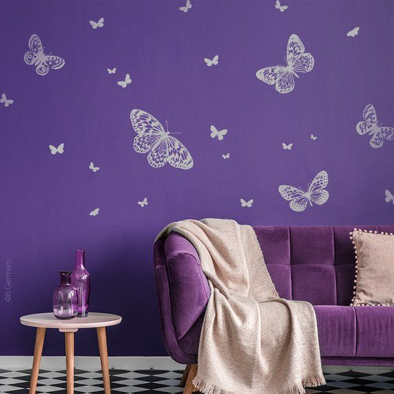 Butterflies wall decal Set Wall sticker wand sticker Wall Tattoo ...