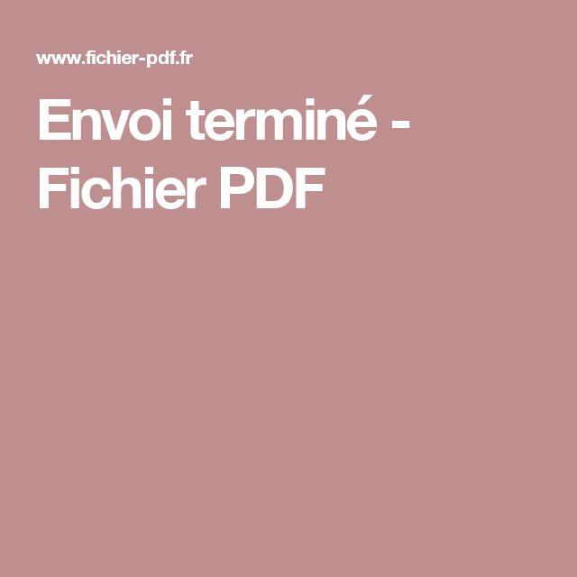 Envoi terminé - Fichier PDF