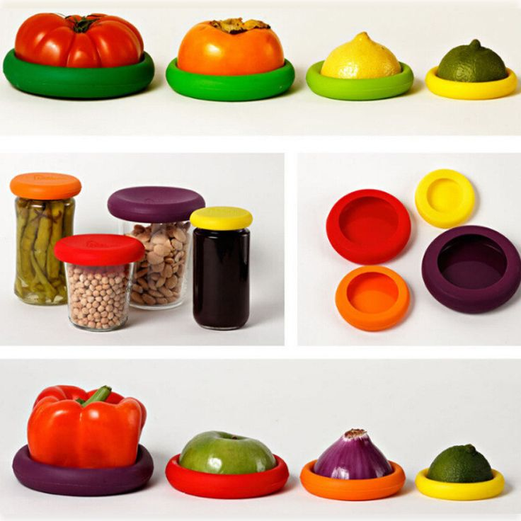 Silicone Food Huggers - 4 Pieces