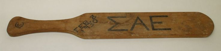 1930 Fraternity Hazing Spanking Paddle Sigma Alpha Epsilon 86 years Old