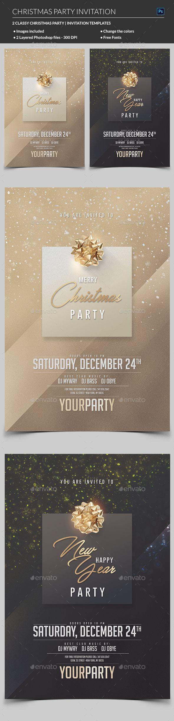 Best 25+ Christmas party invitation template ideas on Pinterest