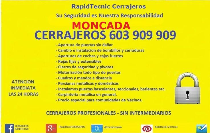 Cerrajeros Moncada Fontaneros 603 932 932 en Moncada, Comunidad Valenciana