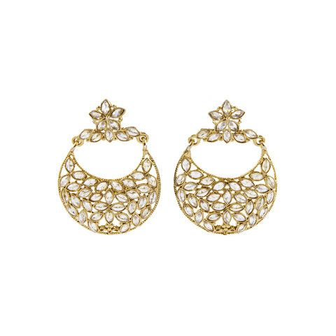 Golden Polki Earrings
