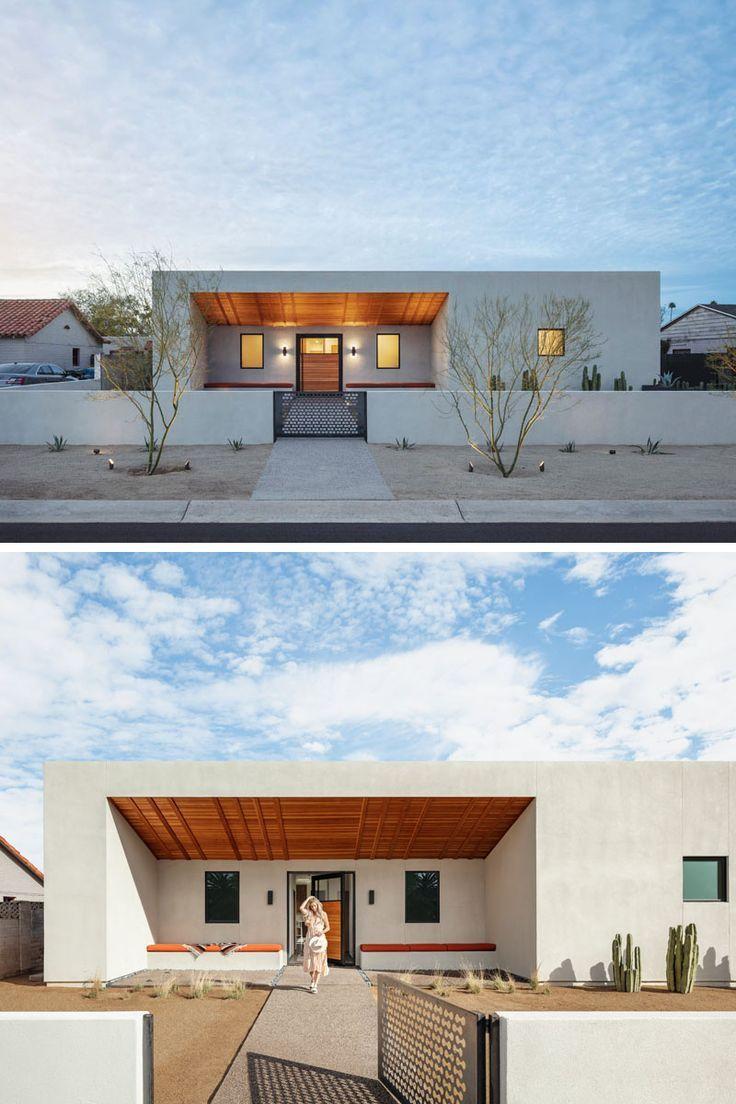 A Georgia O Keeffe Inspired Courtyard House In Phoenix Courtyard House Modern Courtyard Architecture House
