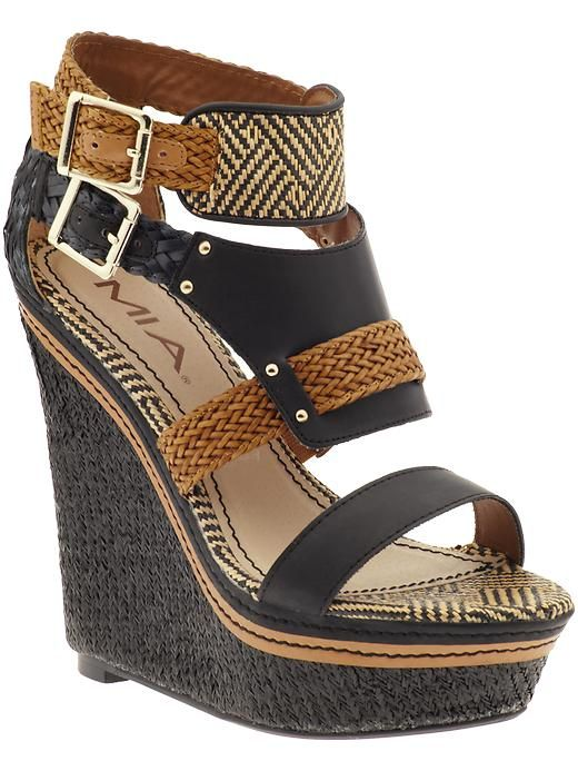 Love these shoes. These are Mia priced at $79 at Piperlime. I bought the exact same shoe from Target for less than half the price. Just a little FYI people!