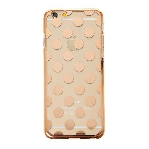 Coque pour téléphone or rose à pois - Compatible iPhone 6
