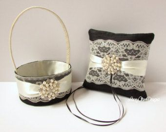 Wedding Ring Bearer Pillow Ring Pillow and от LaceyClaireDesigns