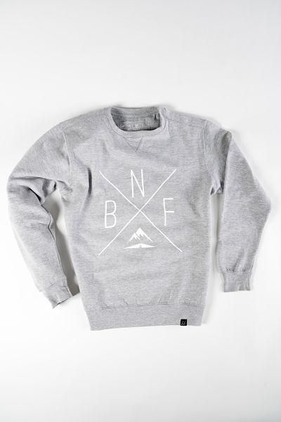 Banff Crewneck Sweatshirt in GREY from Local Laundry, available at Labrador Supply Co. Front View.