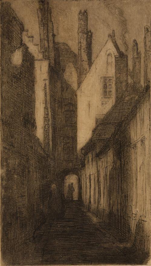 Side Lane, Ypres, Jessie Traill