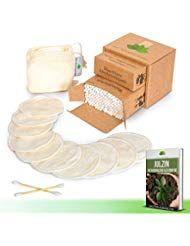 10 Stk. waschbare Abschminkpads 200 Stk. Bambus Wattestäbchen kostenloses E-Book un …