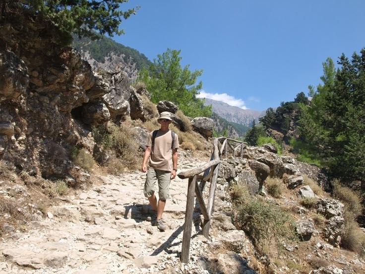 Randonnée dans les gorges de Samaria.