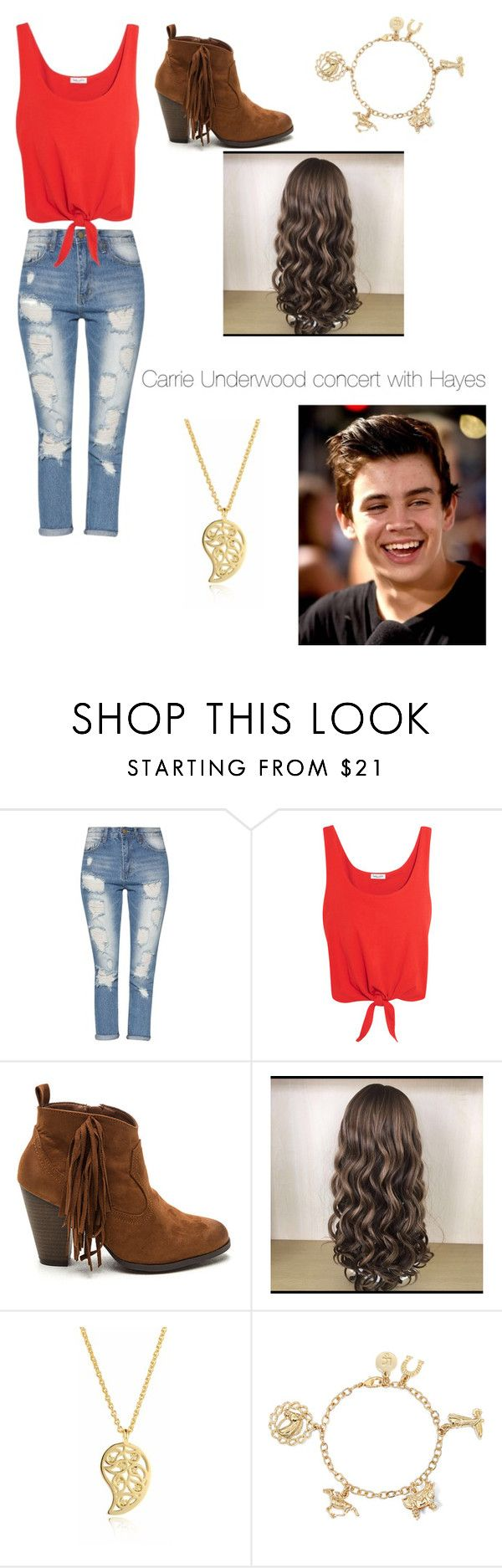 """""""Carrie underwood concert with Hayes"""" by kaitlynfashion15 on Polyvore featuring Splendid, Sonal Bhaskaran and Liz Claiborne"""
