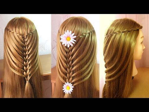 Tresse cascade torsadée Tuto coiffure cheveux long /mi