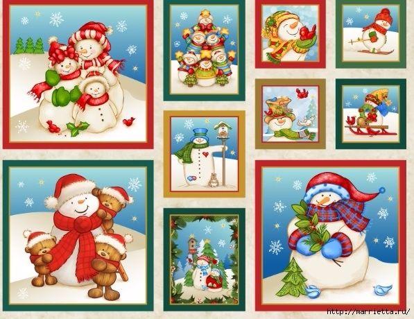 Картинки для декупажа. Новогодняя и рождественская тематика (10) (597x460, 231Kb)