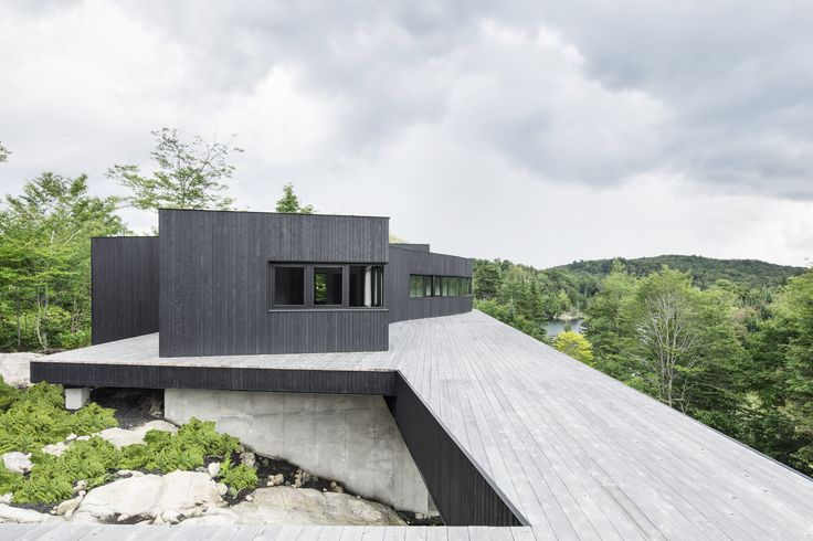 The elemental beauty of charred wood makes it a preferred material for many residences. The burning process makes the wood more resilient and weather resista...