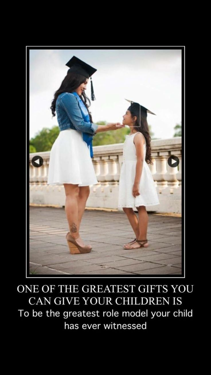 Graduation picture with daughter