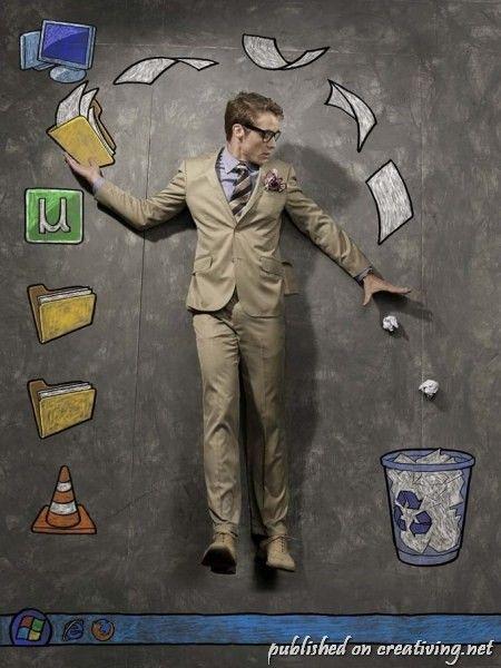 Креативные рисунки мелом и живые модели от Нитина Камблекара creativing.net