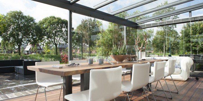 Jumbo Aluminium terrasoverkapping met glas