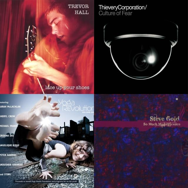 A playlist featuring Steve Gold, Wah!, Trevor Hall, and others
