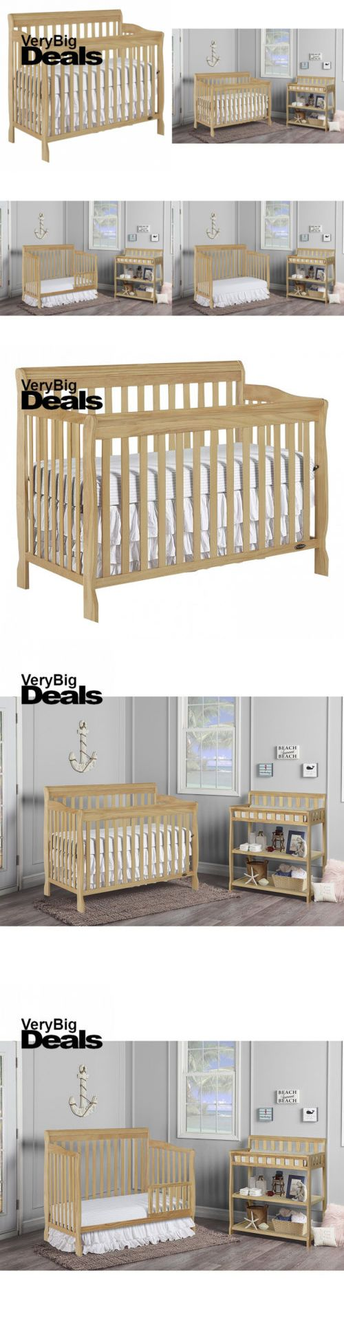 Cribs 2985: New 5 In 1 Convertible Baby Crib Toddler Nursery Bed Side Dream On Me Pick Color -> BUY IT NOW ONLY: $151.74 on eBay!
