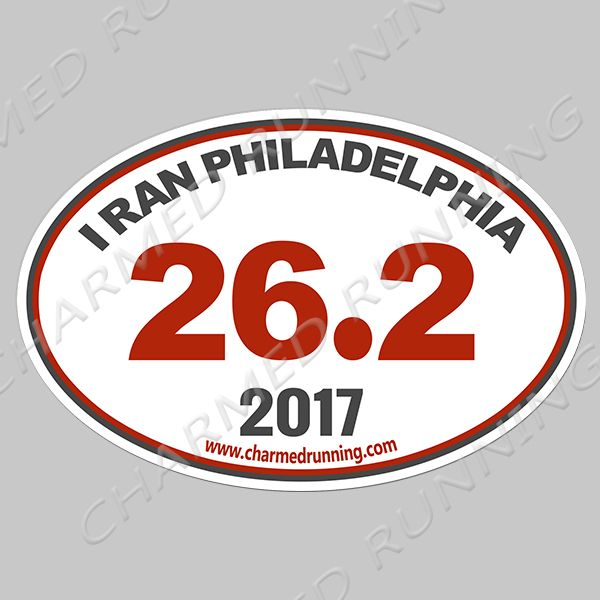 I ran philadelphia philly 26 2 marathon bumper sticker with year