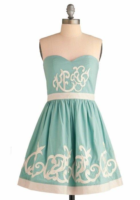 the color<3: Summer Dresses, Ice Dresses, Dreams Closet, Clothing, Bridesmaid Dresses, Colors, Tiffany Blue, Modcloth, Royals Ice