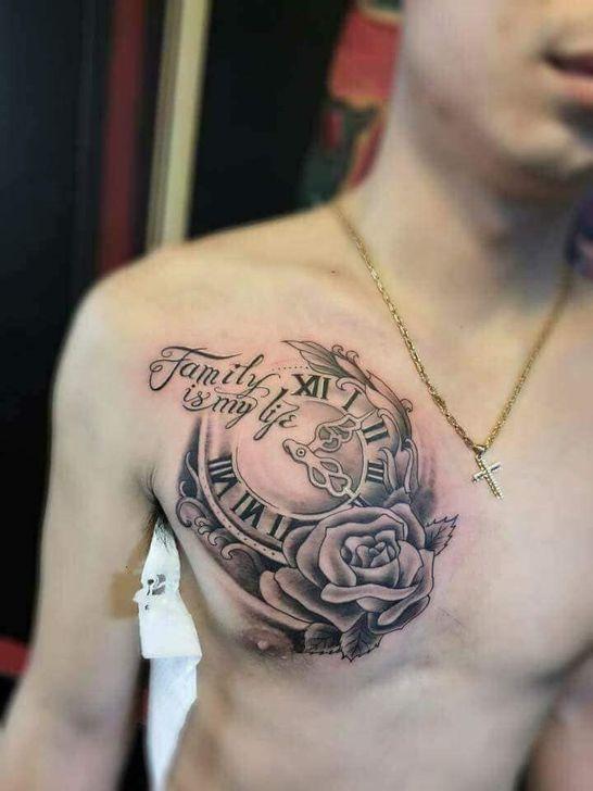 99 Lovely Men Chest Tattoo Ideas That Timeless All Time Chest Tattoo Men Cool Chest Tattoos Chest Tattoo