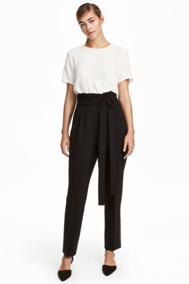 Pantalon de smoking - Noir - FEMME | H&M CA 1
