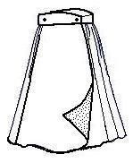Wrap skirt (pattern and tutorial)... would be perfect for a Hogwarts uniform