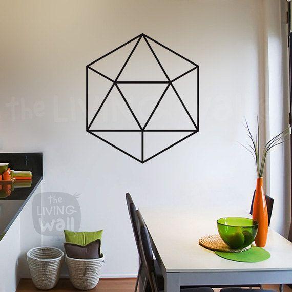 Diamond Wall Decal, Diamond Sticker, Diamond Decals, Hexagon Decor, Geometric…