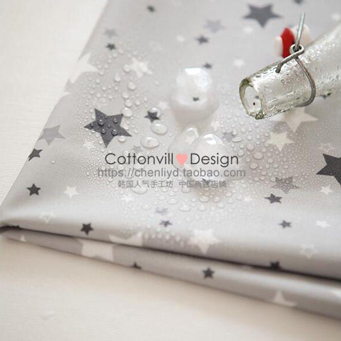 0,5 м) CottonVill брезент Корея импортировала ткань водонепроницаемой ванной обеденный стол с серыми звездами - Taobao